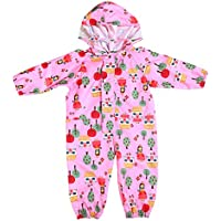 JiAmy Kids Baby One Piece Rain Suit with Hood Waterproof Coverall Outdoors 1-7 Years