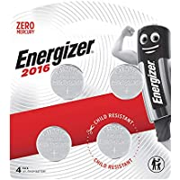 Energizer 2016 Coin Battery, Pack of 4