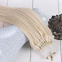 FidgetGear 50 / 100S容易なマイクロループシリコーンビーズのRemyの人間の毛髪延長16-26Inch #60白ブロンド