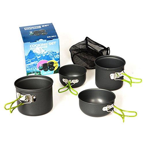 Newtion 多機能 アウトドア鍋 食器セット 折り畳み 調理器具 キッチンツール 収納袋付き 2-3人用
