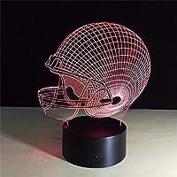 ノベルティランプ、 リモコン7色サッカーのUSBサッカーヘルメットLEDナイトライトテーブルランプクリエイティブホームインテリアタッチライト