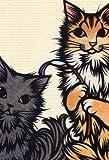 ねこの引出し 猫切り絵作家「さとうみよ」のポストカード「お誘い」
