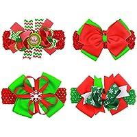 PGXTベビーガールズクリスマスbow-knotヘアピン頭飾りヘッドバンドヘアバンド