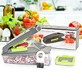 Onion Chopper Pro Vegetable Chopper by M & # x178; eller–Strongest–No More Tears 30%より重い義務マルチvegetable-fruit-cheese-onion chopper-dicer-kitchenカッター グレー COMINHKG100176
