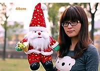 マヤマ クリスマス サンタクロース ぬいぐるみ お祭り 装飾 ホーム 子供 クリスマス 楽しいギフト 子供 クリスマス ソフトトイ パーティーフェイバー 男の子 女の子用 48cm