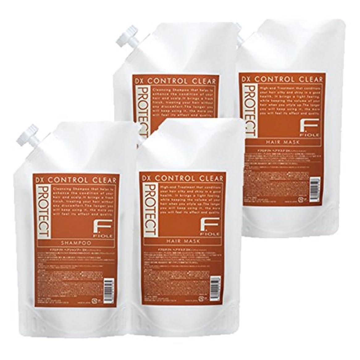 床を掃除するチャップ退屈フィヨーレ Fプロテクト DXタイプ シャンプー 1000mL×2 + ヘアマスク 1000g×2 セット 詰め替え fiole