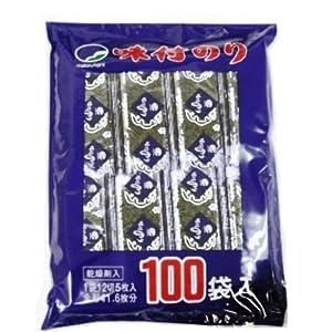 松谷海苔 味付のり 100束 チャック袋(12切5枚)