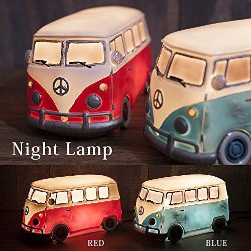 ワーゲンバス (ブルー) アメリカン LED ナイトランプ ...