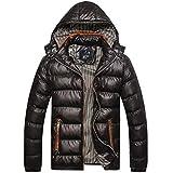 [エスアンドワイ] 5カラー ダウンジャケット カジュアル フード付き 無地 中綿 厚手 防寒 冬 メンズ M~XXL