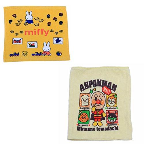 アンパンマン べビー はらまき プリント柄 リブ2枚重ね フリーサイズ タオル セット (C柄)