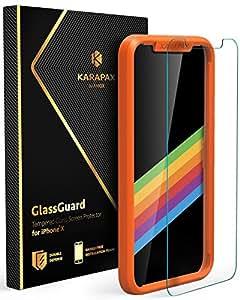 Anker KARAPAX GlassGuard iPhone X用 強化ガラス液晶保護フィルム【3D Touch対応/硬度9H/飛散防止】