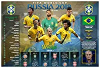 posterwarehouse2017ブラジルの2018サッカーチーム記念ポスター