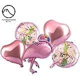 バルーン 風船 気球 フォイルバルーン フラミンゴバルーン ハートバルーン ラウンドバルーン 誕生日パーティー、結婚式、パーティーデコレーション 1セット5個入り