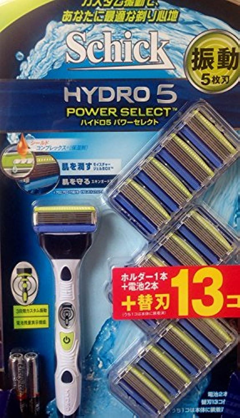 煩わしいのぞき見バスルームお買い得 シック ハイドロ5 パワーセレクトホルダー1本+ 替刃 (13コ入)+電池2本
