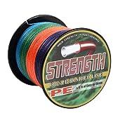高強度 PEライン 釣り糸 58lb 6.0号 4編 300m 5色マルチカラー