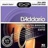 D'Addario ダダリオ アコースティックギター弦 EXPコーティング ブロンズ Custom Light .011-.052 EXP13 【国内正規品】