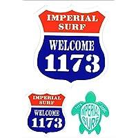 サーフィン ステッカーいい波1173 ホヌ ルート69 モチーフ シール