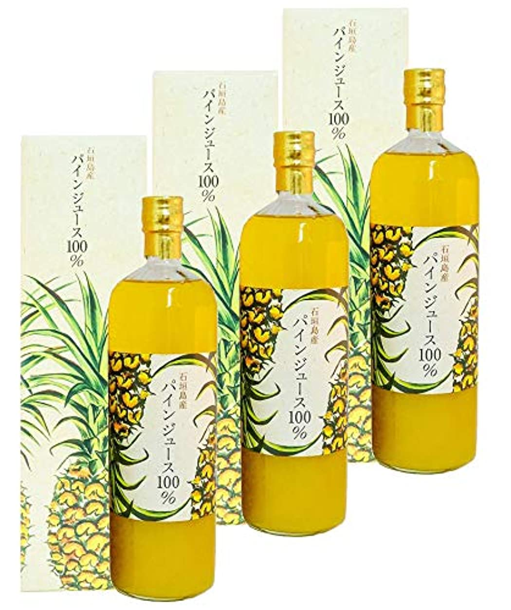 記述するよく話されるレタス石垣島産 パインジュース100% 900ml 3本 パイナップルジュース