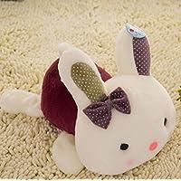 HuaQingPiJu-JP 30cmぬいぐるみぬいぐるみウサギソフトおもちゃソフトぬいぐるみうさぎの贈り物(紫)