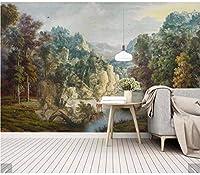 Weaeo 3Dヨーロッパの手描き熱帯雨林の壁紙壁画アート壁壁紙壁画壁紙プリント壁紙ロール-250X175Cm