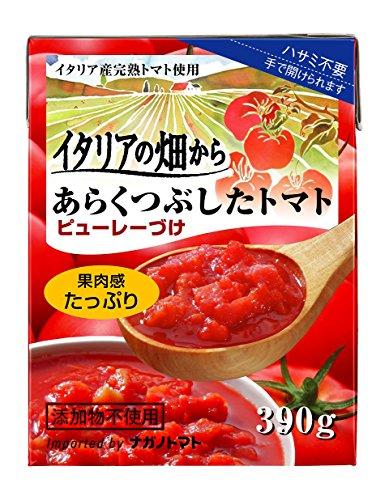 イタリアの畑から あらくつぶしたトマト ピューレーづけ 果肉感たっぷり パック390g