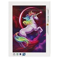 ウォールアート、5DフルカラーDIY刺繍ダイヤモンド絵画クロスステッチ独創性30 * 40Cmの馬のパターン5Dの絵画動物の絵画