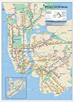ポスター 作者不明 New York City Subway Map 額装品 アルミ製ハイグレードフレーム(ホワイト)