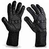August Collective 1 Pair BBQ Grill Gloves Heat Resistant Kitchen Oven Silicone Non-Slip Glove for Cooking, Baking, Welding, F