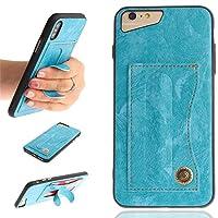 iPhone 6 Plus iPhone 7 Plus iPhone 8 Plus 手帳型ケース、Moonmini 衝撃防止 全面保護 人気 軽量 薄型 ケーススリム iPhone 6 Plus iPhone 7 Plus iPhone 8 Plus 携帯電話ケース(Sky-blue)