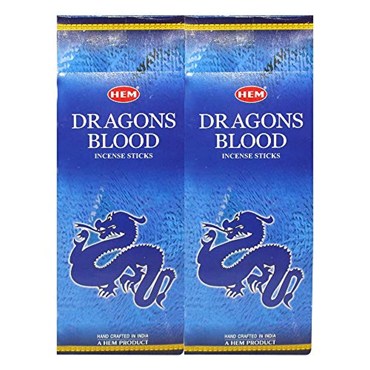 キャンドル食用近代化するHEM ドラゴンブラッドブルーアガーバティ12本パック お香スティックボックス 各20g