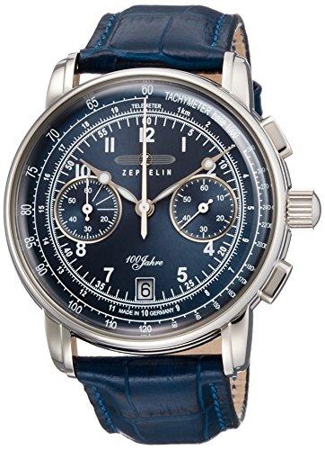 [ツェッペリン]ZEPPELIN 腕時計 100周年記念モデル ネイビー文字盤 【Amazon.co.jp 150本限定】 クロノグラフ 7674-3 メンズ 【正規輸入品】