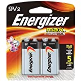 Energizer 9V Alkaline Batteries, Max 9 Volt (2 Count) (Pack of 8)