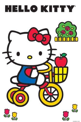 Hello kitty-tricycle、漫画ポスター印刷、...