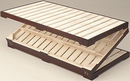 三つ折り天然木桐すのこマット ダブルサイズ ダブルベッド すのこベッド 木製ベッド ローベッド