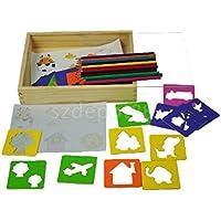 Kids Children 's図面テンプレートボードセットおもちゃ