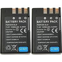 NinoLite EN-EL9 EN-EL9a 互換 バッテリー 2個セット ニコン D5000 D3000 D60 D40X D40 対応 enel9x2_t.k.gai
