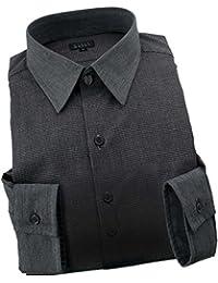 RSD672-004 (スタイルワークス) メンズ長袖ワイシャツ レギュラーカラー クレリック ショートカラー チェック
