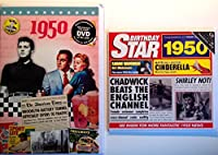1950 Birthday Gifts Pack - 1950 DVD Film , 1950 Chart Hits CD and 1950 Birthday Card