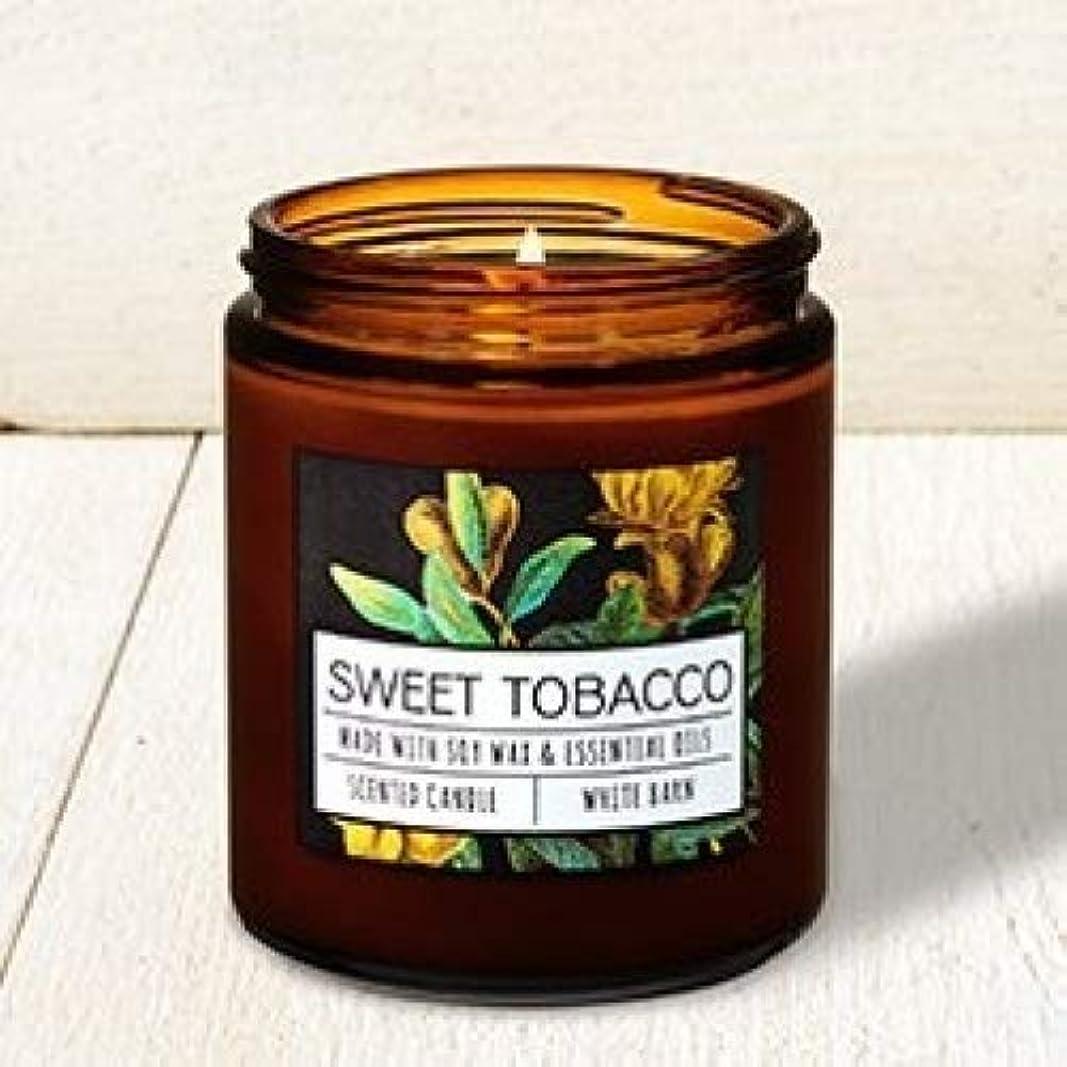 水差し独特の横向きBath and Body Works Sweet Tobacco Single Wick Candle。7オンス