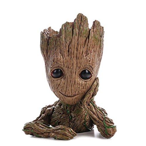 RoomClip商品情報 - SUKIDA グルート groot Guardians Of The Galaxy Flowerpot Baby Groot  グッズ コスプレ フラワーボックス 筆たて 鉢植え パーティー グッズ 小物 子供用 母の日ギフト 誕生日 イベント (14cm)