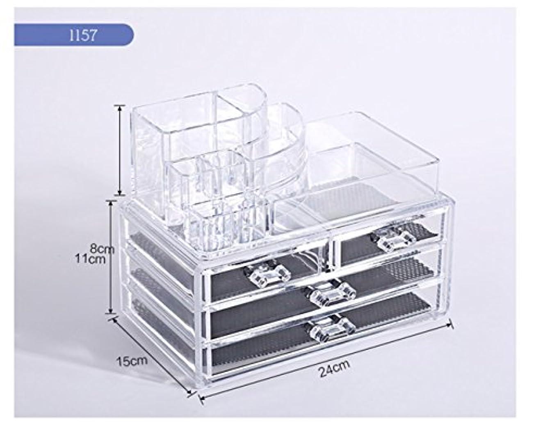 イノセンス騒ぎ平らにするTomori(トモリ)   (トモリ)Tomori 引出しデスクトップ 化粧品 収納ボックス アクリル 透明化粧箱 メイクケース コスメ収納 クリアアクセサリー(スタイル1)