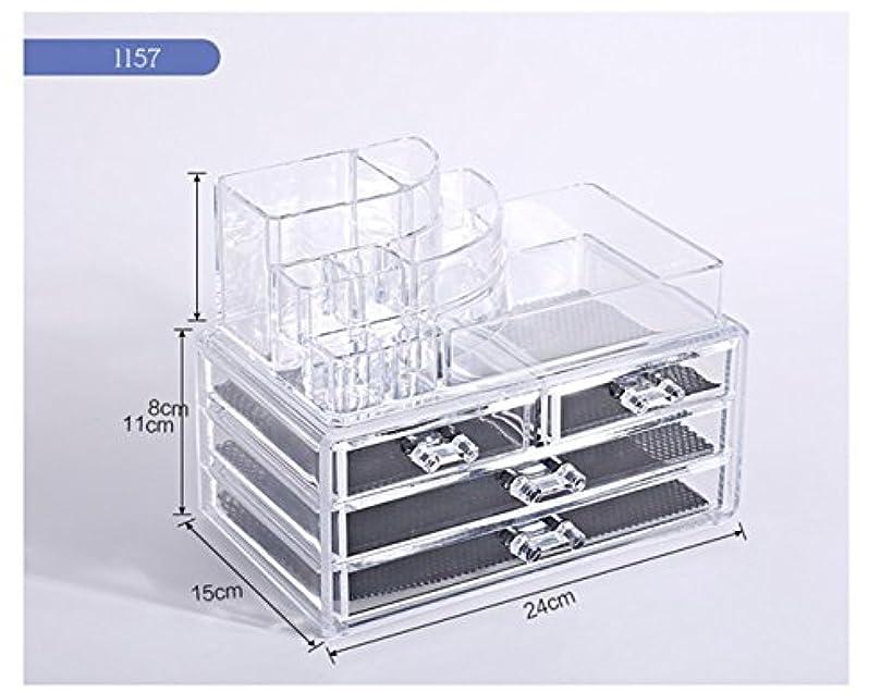機密お金むき出しTomori(トモリ)   (トモリ)Tomori 引出しデスクトップ 化粧品 収納ボックス アクリル 透明化粧箱 メイクケース コスメ収納 クリアアクセサリー(スタイル1)