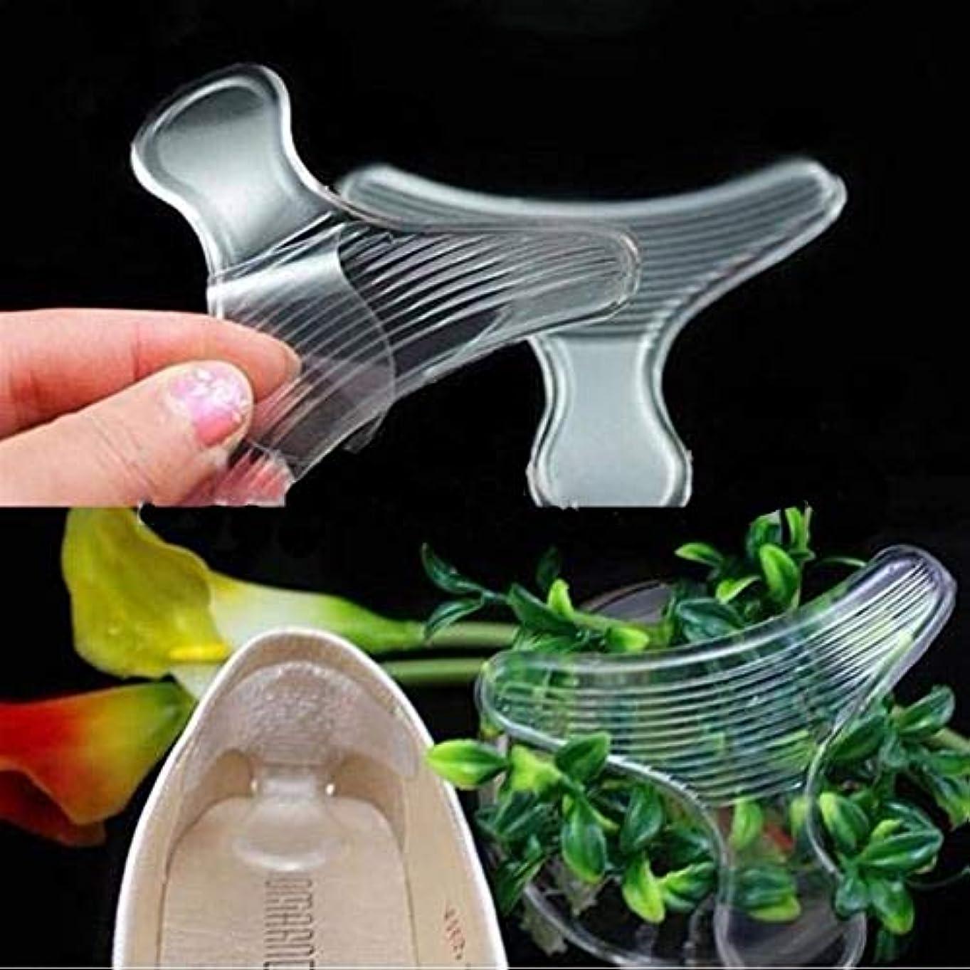 噛む変形フレッシュ目に見えないゲルパッド透明ノースリップハイヒールインソール Shangxiangtrade (Color : 1 Pairs)