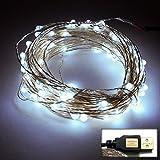 waves USB LED ワイヤーライト イルミネーション ライトアップ 内照灯 電飾衣装 クリスマス 七夕 ホワイト 5M
