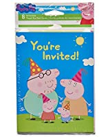 American Greetings Girls Peppa Pig Invite and Thank You Combo Pack(8 Count) [並行輸入品]