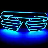 LED サングラス メガネ パーティー イベント クラブ 大人気に 選べる10色 標準 タイプ (青)