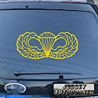3s MOTORLINE para Wing US Army Airborneデカールステッカー車ビニールPickサイズカラーDie Cut No背景 28'' (71.1cm) ブラック 20180328s26