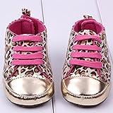 LuxBene(TM)ベビー3-15ヵ月間ファッションかわいい女の赤ちゃんの靴柔らかい底の靴赤ちゃん幼児の幼児のヒョウまずウォーカー