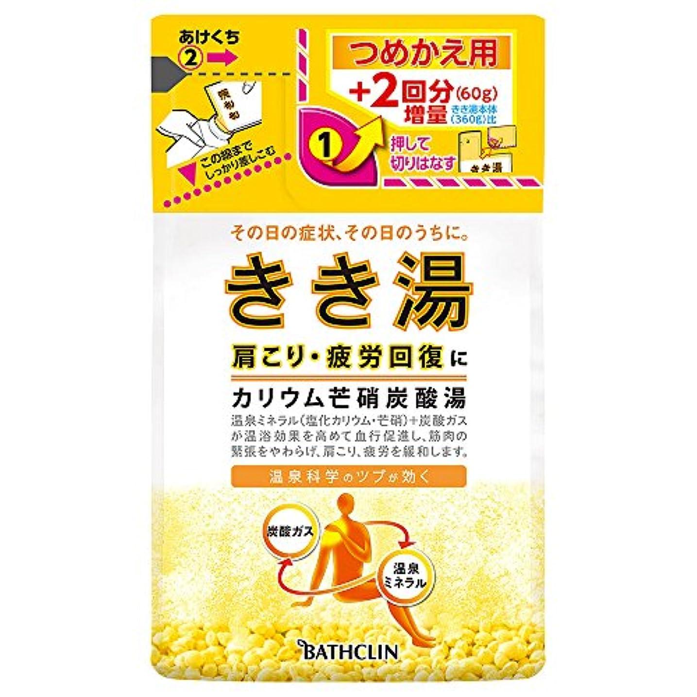 ダッシュ変更可能ふけるきき湯 カリウム芒硝炭酸湯 つめかえ用 420g 入浴剤 (医薬部外品)
