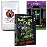 AtmosFEARfx Witching Hourハロウィンデジタル装飾DVD WITH Hollusion Doorway + Reaper Brosドア投影画面